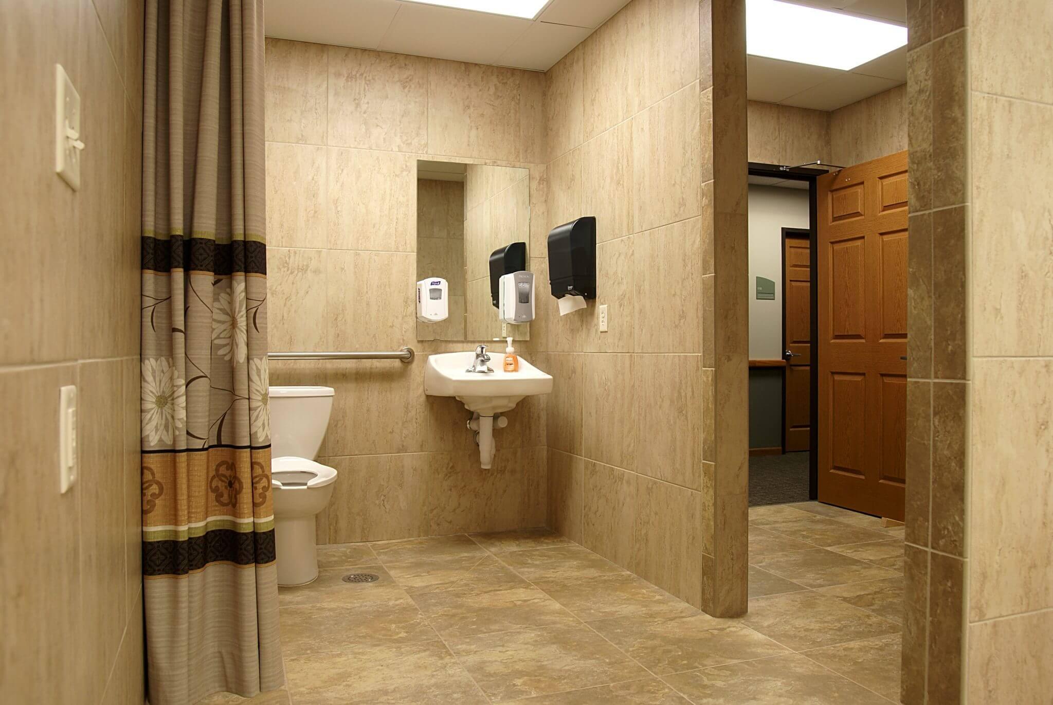 interior shot of bathroom